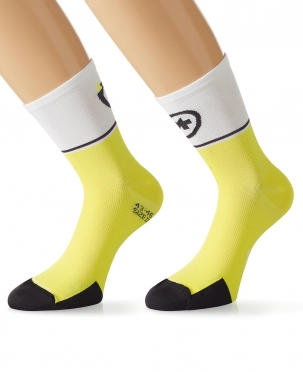 Assos ExploitSocks_evo7 cycling socks yellow men
