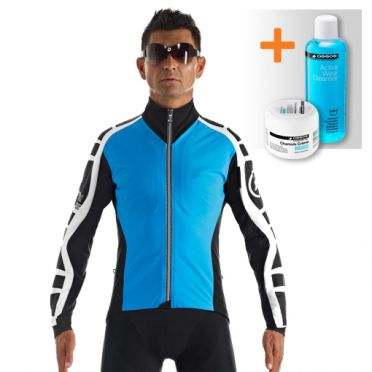Assos iJ.bonKaCento.6 cycling jacket blue men