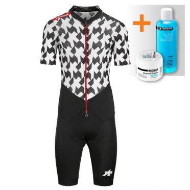 Assos LeHoudini RS Aero RoadSuit black/white men
