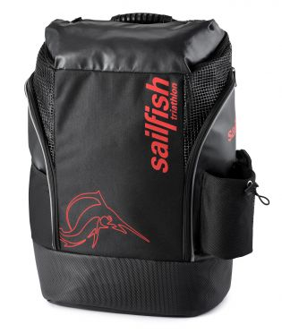 Sailfish Triathlon backpack cape town 35 liter black/red