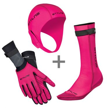BTTLNS Neoprene accessories bundle pink