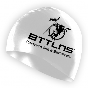 BTTLNS Silicone swimcap white Absorber 2.0