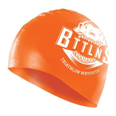 BTTLNS Shark absorber 2.0 silicone swimcap neon/orange