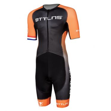 BTTLNS Typhon 2.0 trisuit short sleeve black/orange men