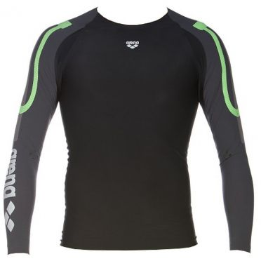 Arena Carbon Compression long sleeve swimming shirt men