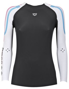 Arena Carbon Compression long sleeve swimming shirt women