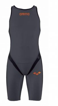 Arena Carbon pro rear zip sleeveless trisuit dark grey men