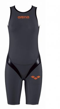 Arena Carbon pro rear zip sleeveless trisuit dark grey women