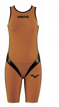 Arena Carbon pro rear zip sleeveless trisuit orange women
