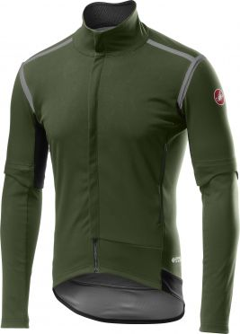 Castelli Perfetto RoS Convertible cycling jacket green men