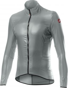 Castelli Aria shell cycling jacket silver woman