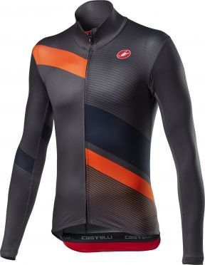 Castelli Mid Thermal Pro LS jersey long sleeve black/orange men