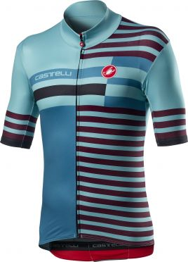 Castelli Mid Weight Pro jersey short sleeve blue men