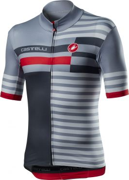 Castelli Mid Weight Pro jersey short sleeve gray men
