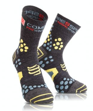 Compressport V2.1 winter trail running socks grey