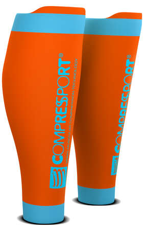 Compressport R2 v2 compression calf tubes orange