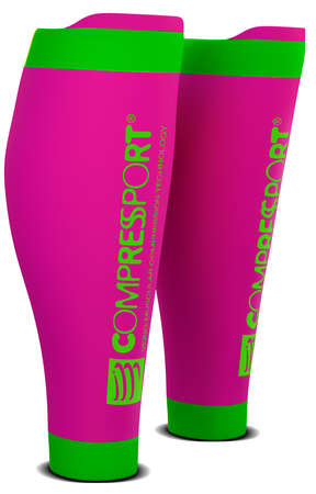 Compressport R2 v2 compression calf tubes pink