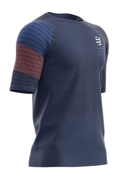 Compressport Racing ss t-shirt blue men
