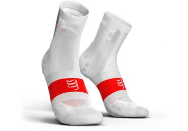 Compressport V3.0 ultralight bike socks white