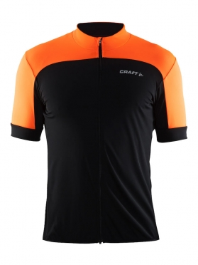 Craft Balance cycling jersey black/orange men