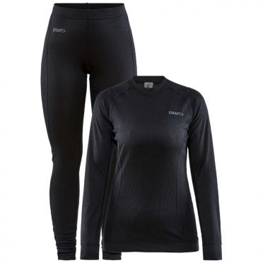 Craft Core Dry Thermo baselayer set black woman