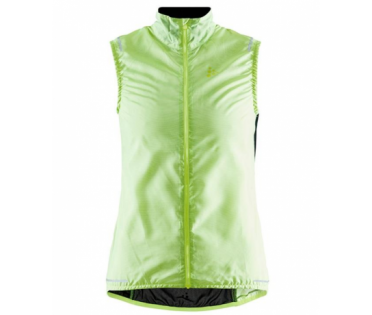 Craft Essence Light Wind cycling vest sleeveless yellow woman