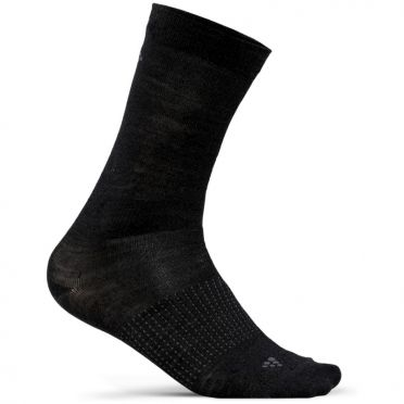 Craft Wool Liner Mid Socks black 2-Pack