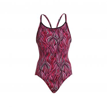 Funkita Safari sunset diamond back bathing suit women