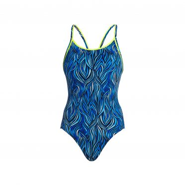 Funkita Wild hide diamond back bathing suit women