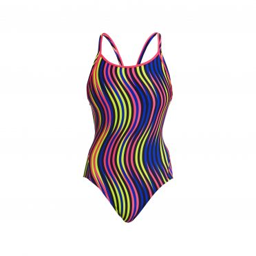 Funkita Squiggle piggle diamond back bathing suit women