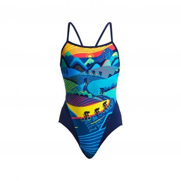 Funkita Allez Allez single strap bathing suit women
