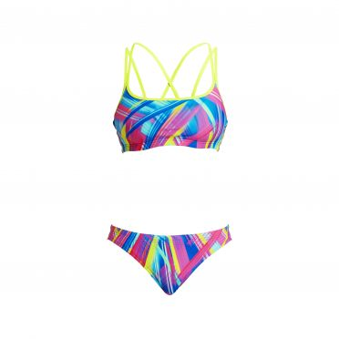Funkita Frickin laser Criss cross sports bikini set women