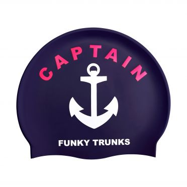 Funky Trunks Silicone swimming cap Captain Funky