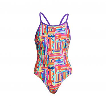 Funkita Top Spot diamond back bathing suit girls