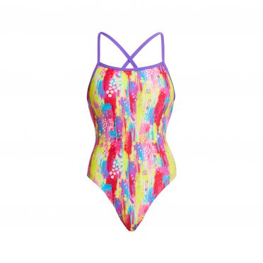 Funkita Splat Stat strapped in bathing suit women