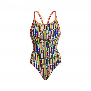 Funkita Prime Time diamond back bathing suit women