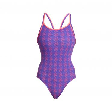 Funkita Tetris Time diamond back bathing suit women