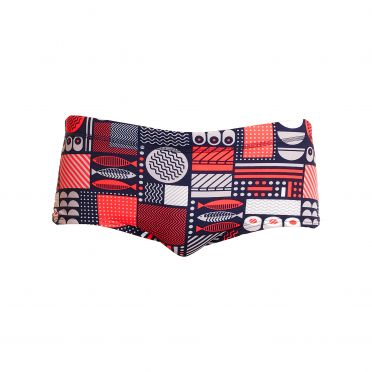 Funky Trunks Bento Box Plain front trunk swimming men