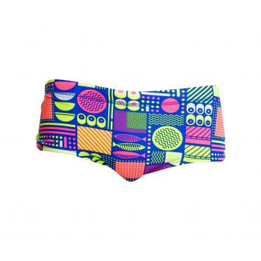 Funky Trunks Packed Lunch Plain front trunk swimming men