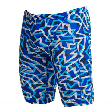Funky Trunks Ticker Tape Training jammer swimming men