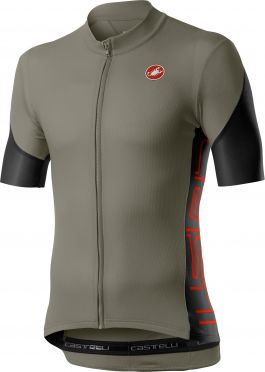 Castelli Entrata V short sleeve jersey green men