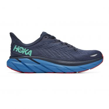 Hoka One One Clifton 8 wide running shoes blue men
