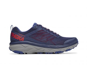 Hoka One One Challenger ATR 5 wide running shoes blue/red men