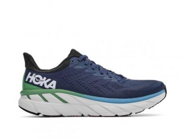 Hoka One One Clifton 7 wide running shoes blue men