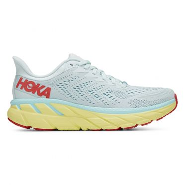 Hoka One One Clifton 7 Wide running shoes light blue woman