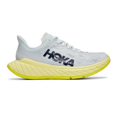 Hoka One One Carbon X 2 running shoes Grey/yellow men