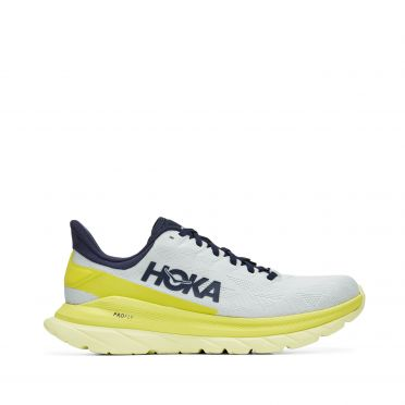 Hoka One One Mach 4 running shoes Grey/yellow women