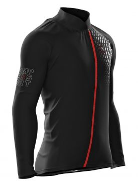 Compressport hurricane v2 running jacket black unisex