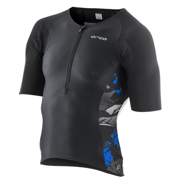 Orca 226 Tri jersey short sleeve black/blue/white men