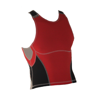 Ironman tri top sleeveless olympic red/black men